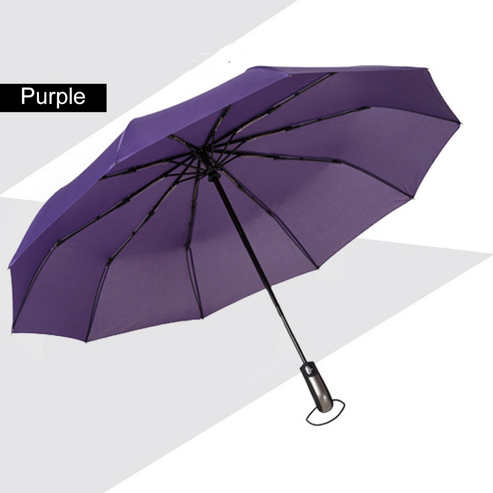 Purple Windproof Umbrella
