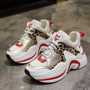 Image 3 - Marka luksusowe buty Retro Casual kobiety trampki wiosna lato nowa gorąca sprzedaż gruba podeszwa obuwie damskie wygodne oddychające