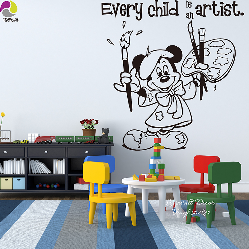 every is an artist cartoon minnie mouse quote wall sticker baby