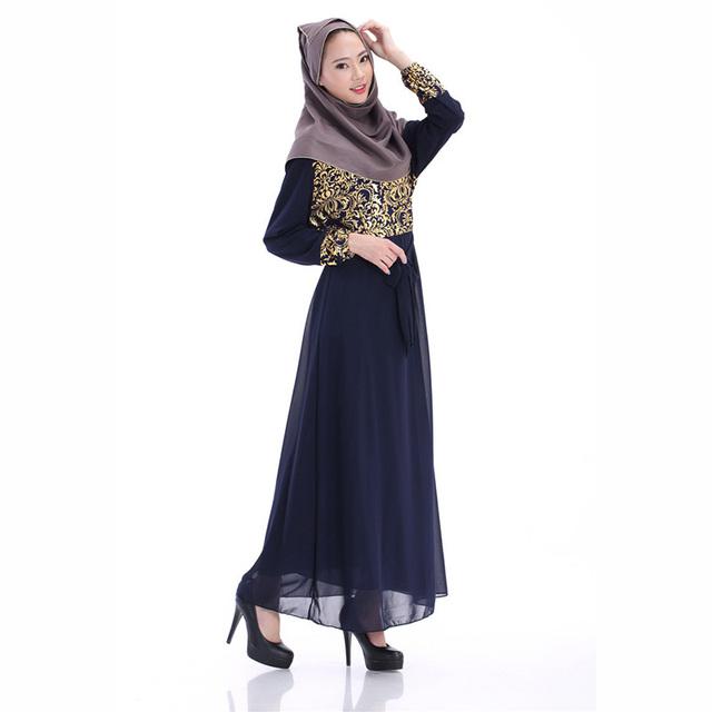 De Las nuevas Mujeres Elegante Vestido Largo Maxi Caftán Jilbab Abaya Islámico Musulmán Vestido de Cóctel