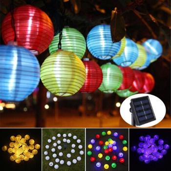 Kaigelin 30 LED Solar String Lights Lantern Ball Outdoor Lighting Solar Lamp Fairy Globe Christmas Decor Light for Party Holiday