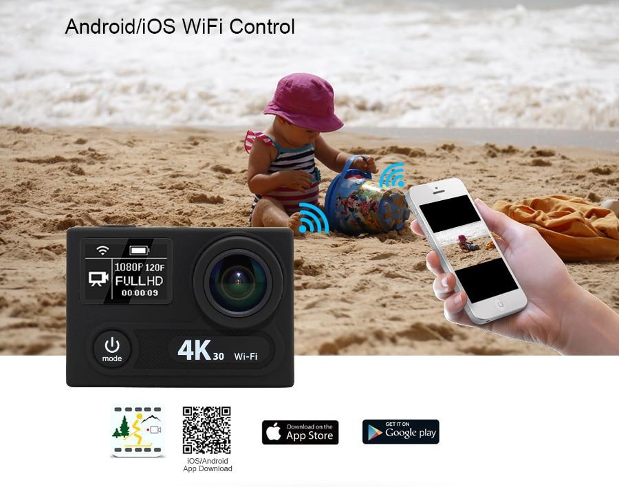 Outdoor Action Camera EKEN H8R H8 pro 1080P Sport cam deportivas HD waterproof Go Underwater Pro hero 5 170 Angle Mini Video DV