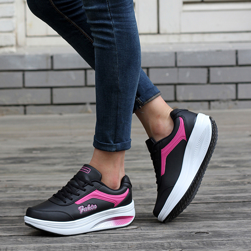 Women Casual shoes 2018 lace-up Breathable Sneakers shoes fashion New Arrival waterproof platform