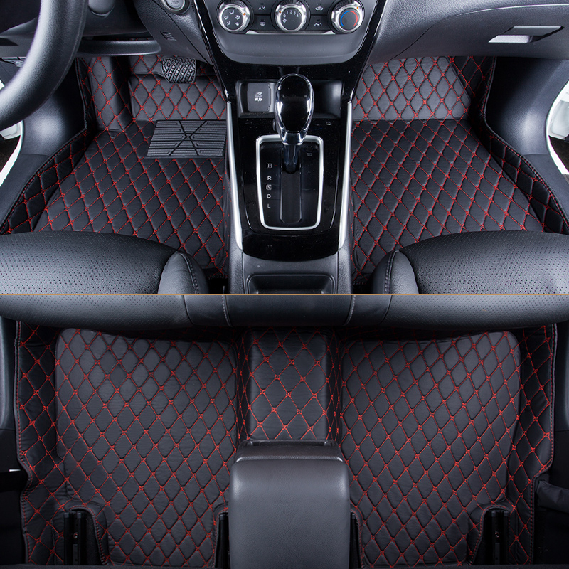 Custom Fit Auto Floor Mats for Select Toyota Tacoma Models Clear Intro-Tech TO-757-RT-C Hexomat Front and Second Row 4 pc Rubber-like Compound