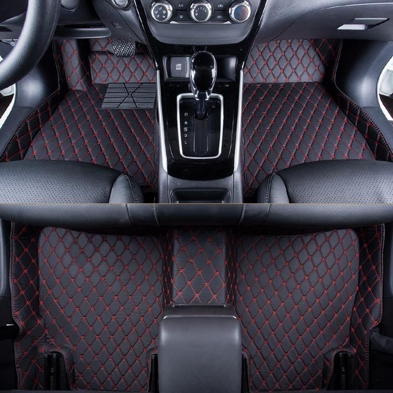 WLMWL tapis de sol de voiture pour siège tous les modèles LEON Toledo Ateca IBL exeo arona accessoires de style de voiture tapis de voiture couvre tapis de sol