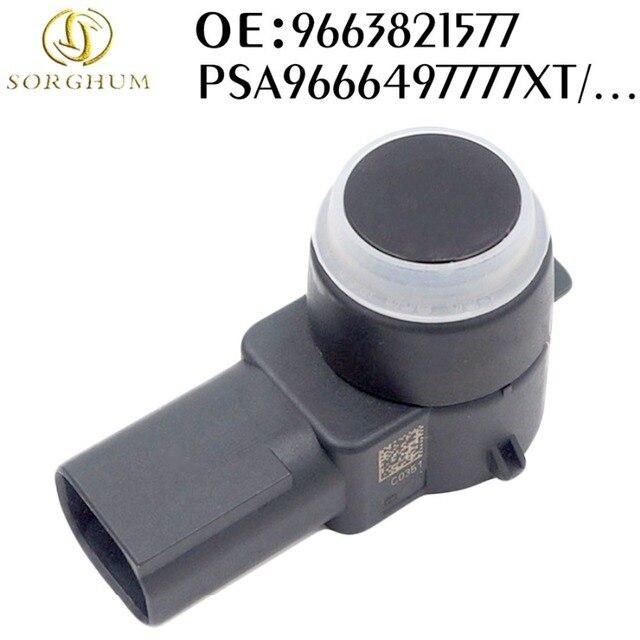 9663821577 car PDC Sensor de aparcamiento para Peugeot 307 308 407 RCZ socio Citroen C4 C5 C6 9663821577XT PSA9663821577 6590 EF 6590A5