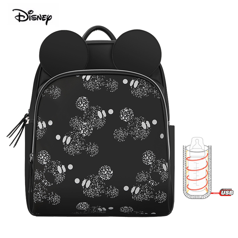 Disney Brand Maternity Nappy Diaper Bag Multifunction Fashion Baby Backpack Waterproof Mother Bag For Travel Black Minne Mickey