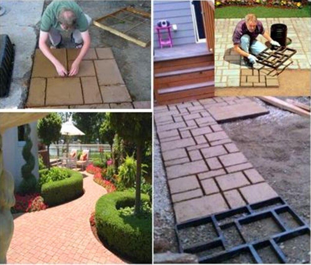 High Quality 60*50*5cm BIG Garden DIY Plastic Path Maker Mold R..