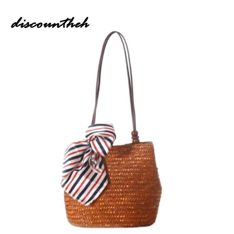 2017 Beach Bag For Summer Big Natural Rattan Bags Handmade Woven Tote Women Travel Handbags Luxury Designer Shopping Hand Bags handmade flower appliques straw woven bulk bags trendy summer styles beach travel tote bags women beatiful handbags