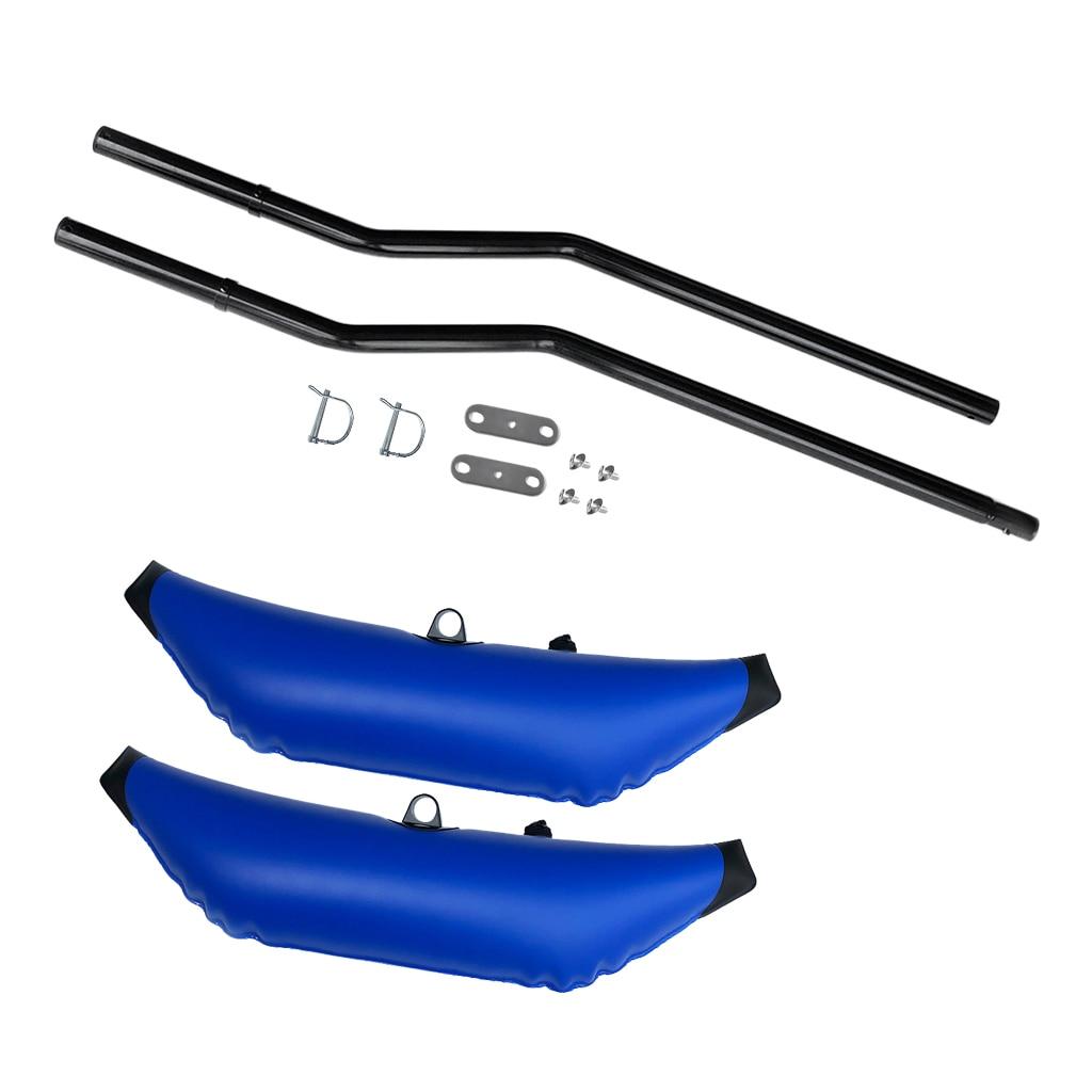 2 pièces stabilisateur de stabilisateur gonflable et acolyte Ama Kit stabilisateur pôle pour Kayak canoë pêche pataugeoire debout débutants