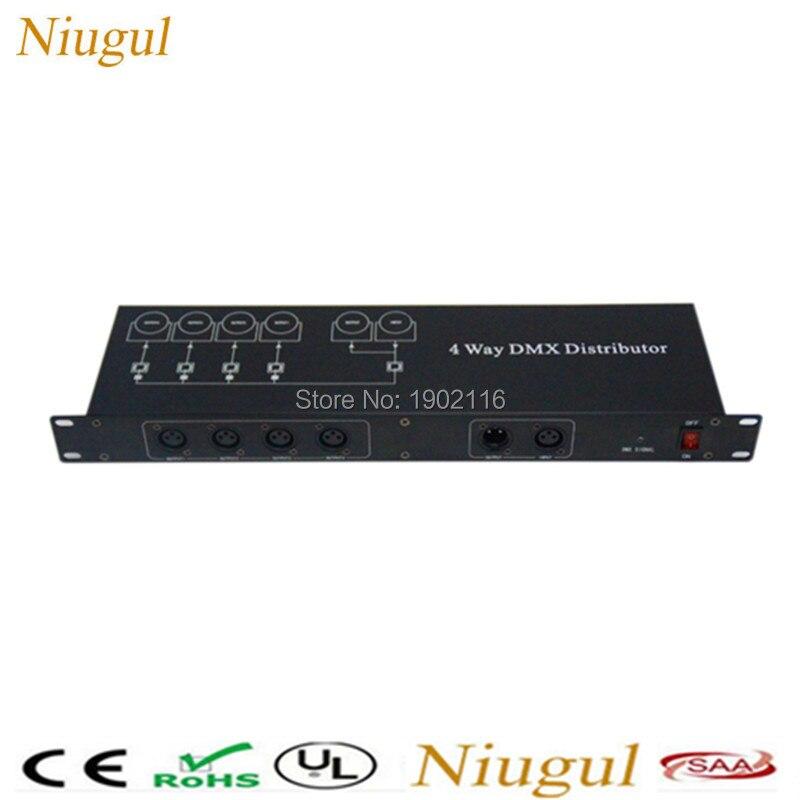 Niugul 4 Way DMX Distributor Metal Case Led Stage Light DMX Amplifer Controller International DMX512 Agreement 3PIN XLR dmx512 digital display 24ch dmx address controller dc5v 24v each ch max 3a 8 groups rgb controller