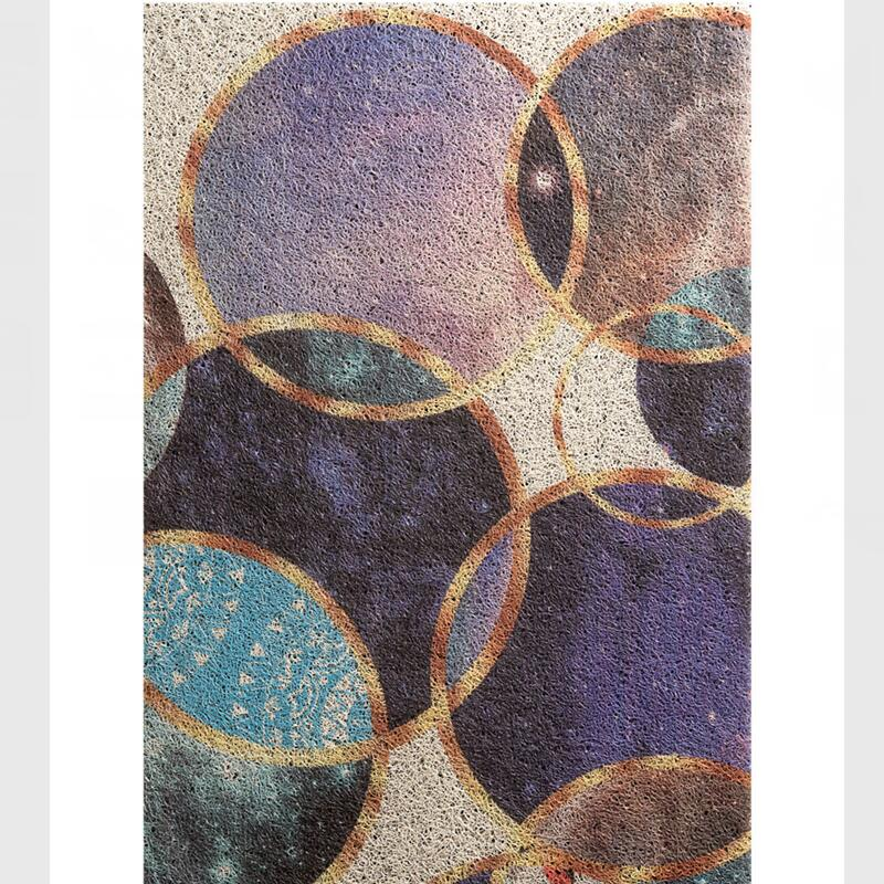 Belle bulle colorée motif tapis d'entrée grande taille PVC porte tapis balcon zone tapis anti-dérapant paillasson tapis couloir décor