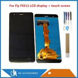 5.0 Cal dla Fly Cirrus 7 FS511 FS 511 wyświetlacz LCD z ekranem dotykowym Digitizer czarny kolor z narzędziami taśmy w Ekrany LCD do tel. komórkowych od Telefony komórkowe i telekomunikacja na