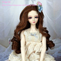 Doll hair Bjd sd doll wig high temperature wire wig for 1/3 1/4 1/6 dolls long Curly  wavy BJD Super Dollfile Hair Wig