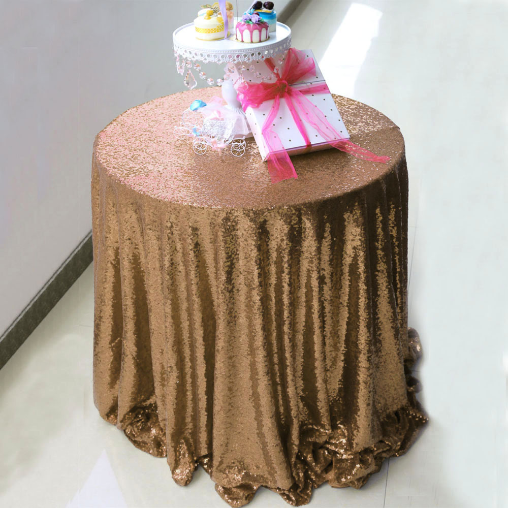 72inch 90inch 96inch 108inch 120inch 132 inch round sequin bling tablecloth table cloth for wedding party