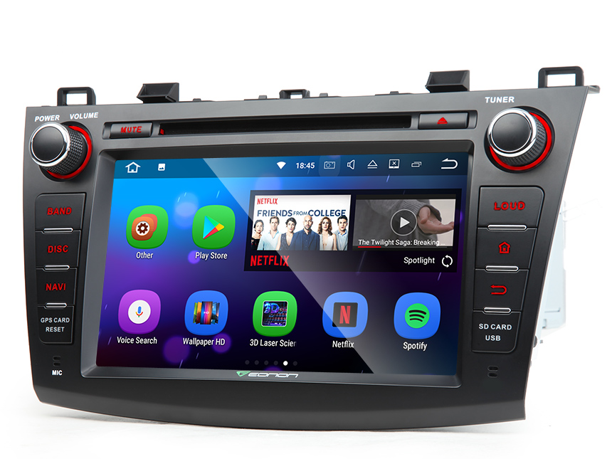 8 android 7 1 car stereo dvd gps navigation for mazda 3 2010 2011 2012 2013 touch screen head. Black Bedroom Furniture Sets. Home Design Ideas
