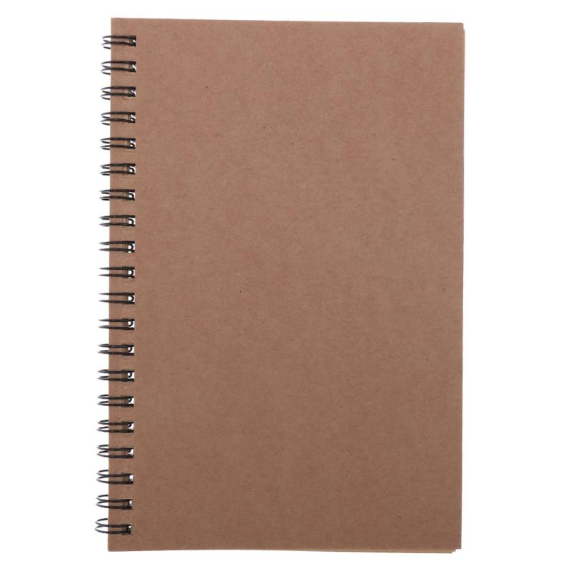 Blank Kraft Paper Cover Spiral Notebook Journal Diary Planner Sketchbook Notepad Caderno Office School Material Escolar Supplies blank kraft paper cover spiral notebook journal diary planner sketchbook notepad caderno office school material escolar supplies