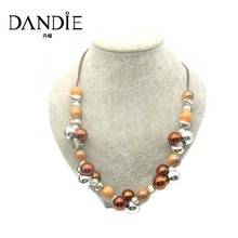 Dandie Fashion  Acrylic Bead  Necklace, Braided Necklace Fashion Jewelry For Women dandie black acrylic bead fashion necklace jewelry short statement necklace
