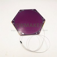 Delta kossel rostock Heated Bed With 170mm Cotton Pad Back FR4 DC12V 100W with SMD thermistor