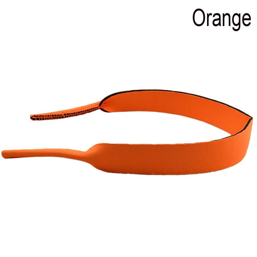 Хорошее качество взрослых очки неопрена Эластичный Спортивный ремешок шнур держатель 38 см 10 шт./лот - Цвет: Оранжевый