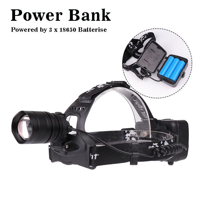 Купить с кэшбэком 2019 High Power LED Headlight 50000lm Super Bright XHP 70 Waterproof Adujustment with Micro USB Charging port z45