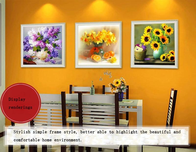 Arreglos Florales 5D DIY diamante pintura flores Cruz puntada ...