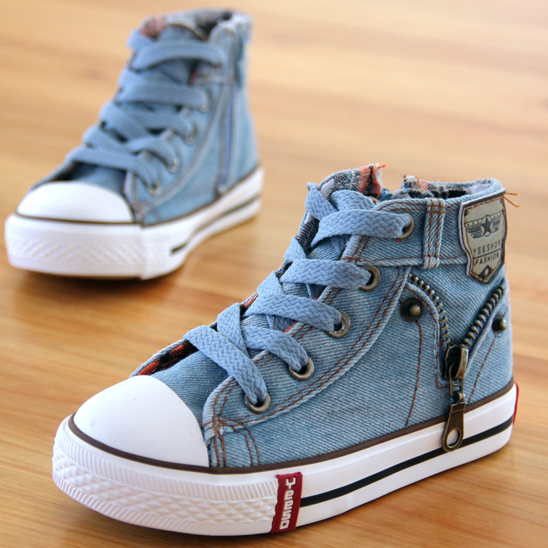 13-kinds-New-Arrived-Size-25-37-Children-Shoes-Kids-Canvas-Sneakers-Boys-Jeans-Flats-Girls-Boots-Denim-Side-Zipper-Shoes-4