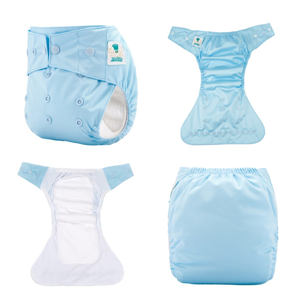 JinoBaby AIO Newborn One Size Cloth Nappy Diapers Stay Dry Reusable Cloth Diaper fits for 3KG to 15KG