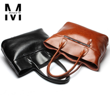 2016 genuine leather bag european vintage designer shoulder bags women bags oil cowhide leather big casual tote bag black brown