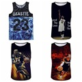 High-quality youth sleeveless street basketball vest 3D personalized basketball style printing breathable net vest 16-20 years
