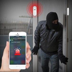 Image 4 - KERUI WIFI датчик двери, окна, двусторонний магнитный детектор 120 дБ 4 цифровой пароль приветствуется сигнализация система домашней безопасности