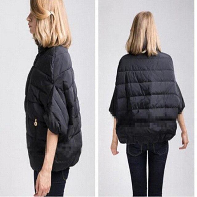 2017 New Winter Jacket Women Down Cotton Jacket Parkas ladies Bat Sleeve cloak Coat manteau femme Parka Winter Coat Women J021