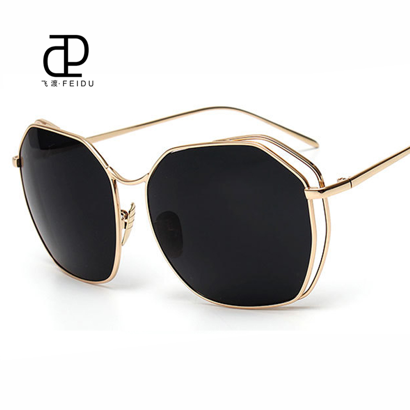 bde13126f52 FEIDU Vintage Metal Hollow Butterfly Sunglasses Women Brand Designer Mirror  Sun Glasses Women Oculos De Sol Feminino With Box-in Sunglasses from  Apparel ...