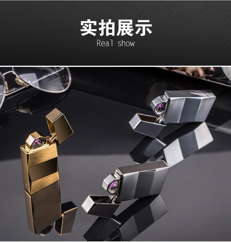 Shake Ignition USB Lighter Metal Dual Arc Lighters Novetly Windproof Rechargeable Electronic Cigarette Cigar Lighter Men Gadgets