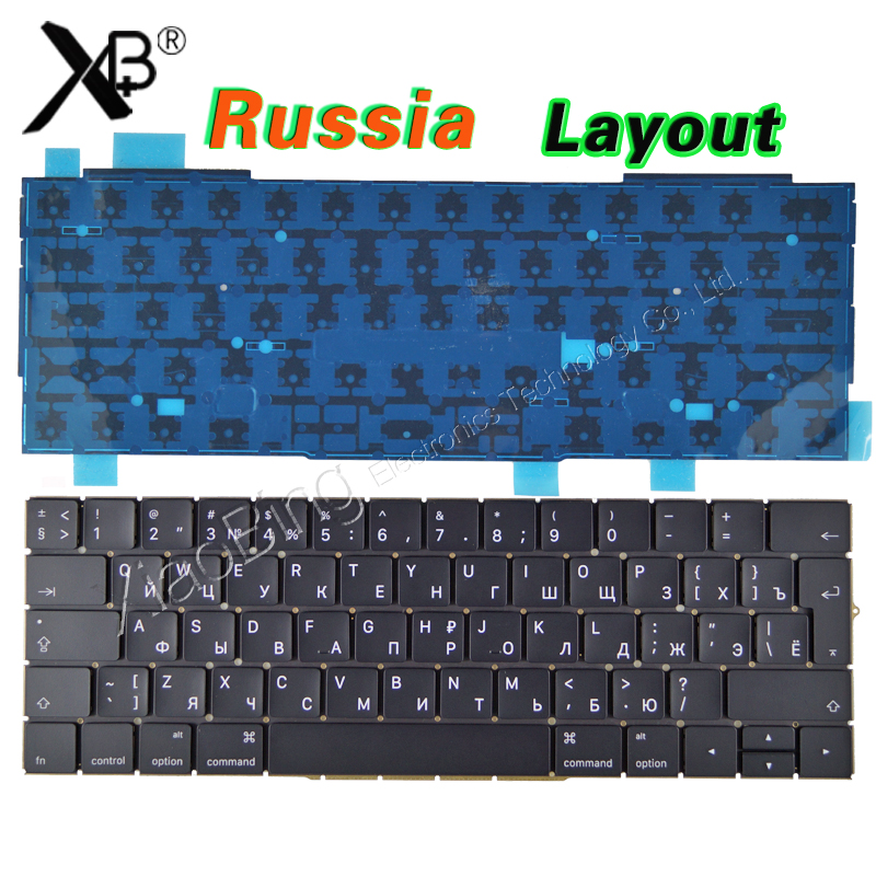 New for MacBook Pro 13.3 Retina A1706 Russian Russia RU Keyboard Backlight Backlit 2016 2017 MLH12 MPXV2 EMC3071 EMC3163 new a1706 keyboard uk english eu euro backlit backlight for macbook pro 13 3 retina 2016 2017 mlh12 mpxv2 emc3071 emc3163