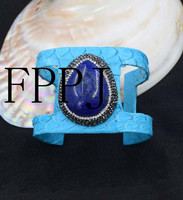 Blue Lapis Lazuli Drop 7 5inch Unique Style FPPJ Bracelet Wholesale Beads Nature