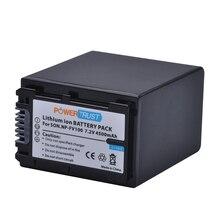1Pc 4500mAh NP FV100 NPFV100 NP FV100 FV100 Li ion Battery for Sony DCR DVD103 XR100