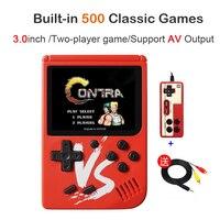 2019 новая ретро мини портативная игровая консоль 8 бит 3,0 дюймов Портативный Ручной игровой плеер встроенный 500 игры игровая консоль