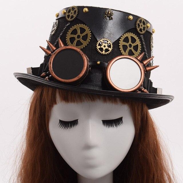 Шляпа в стиле стимпанк с очками вариант 6 1