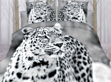 3d Animal Print King Size 4pcs Bedding Set with bed sheet Polyester / cotton
