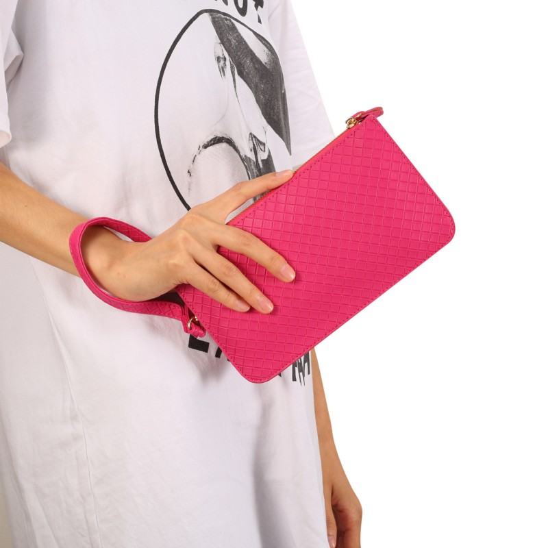 Checked Pattern Hangbag Wallet Case for DEXP Ixion EL250 Amper E/ES150 Fit/MS350 Rock Pl ...