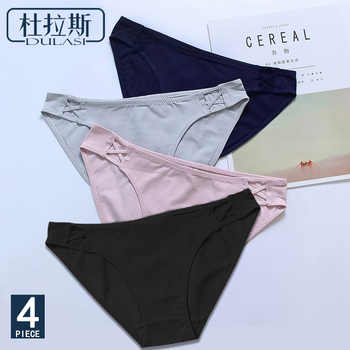 4 Pack! Sexy Panties Cotton Seamless Women Underwear Briefs Soft Silk Lingerie Underpants DULASI Ladies Bikini Pants DULASI - DISCOUNT ITEM  0% OFF All Category