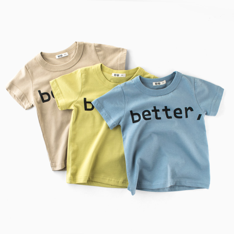 Kids T-shirts Tops Fashion T-Shirts For Kids Boys Children Summer Tee Tops Cartoon Cotton tshirt Girls Children Clothes T-shirt