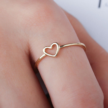 Lanqiao 2019 New Arrival Fashion Rose Gold Color Heart Shaped Wedding Ring female silver Plated Finger Rings Love for Women