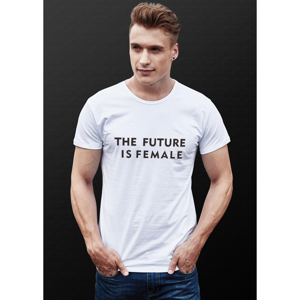 fb2fb417 LUCKYFRIDAYF 2018 The Future is Female Short Sleeve T shirt Men/Women Funny  Tshirts Text Men Summer Short Tshirt Men Top Tees-in T-Shirts from Men's ...