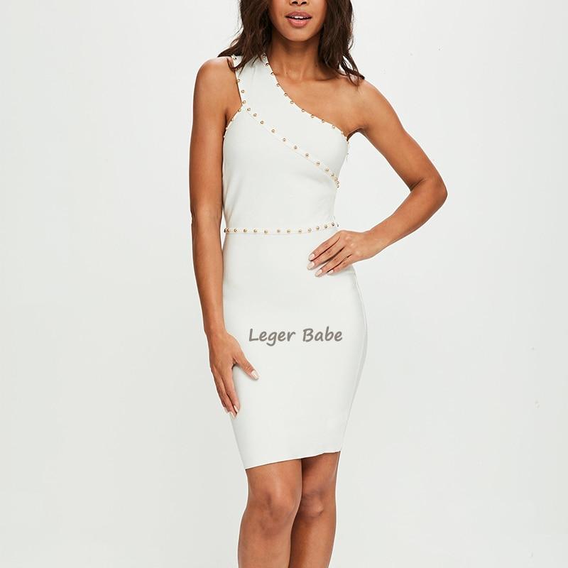 LEGER BABE Elegant White Bandage Dress Fashion Nova Bodycon