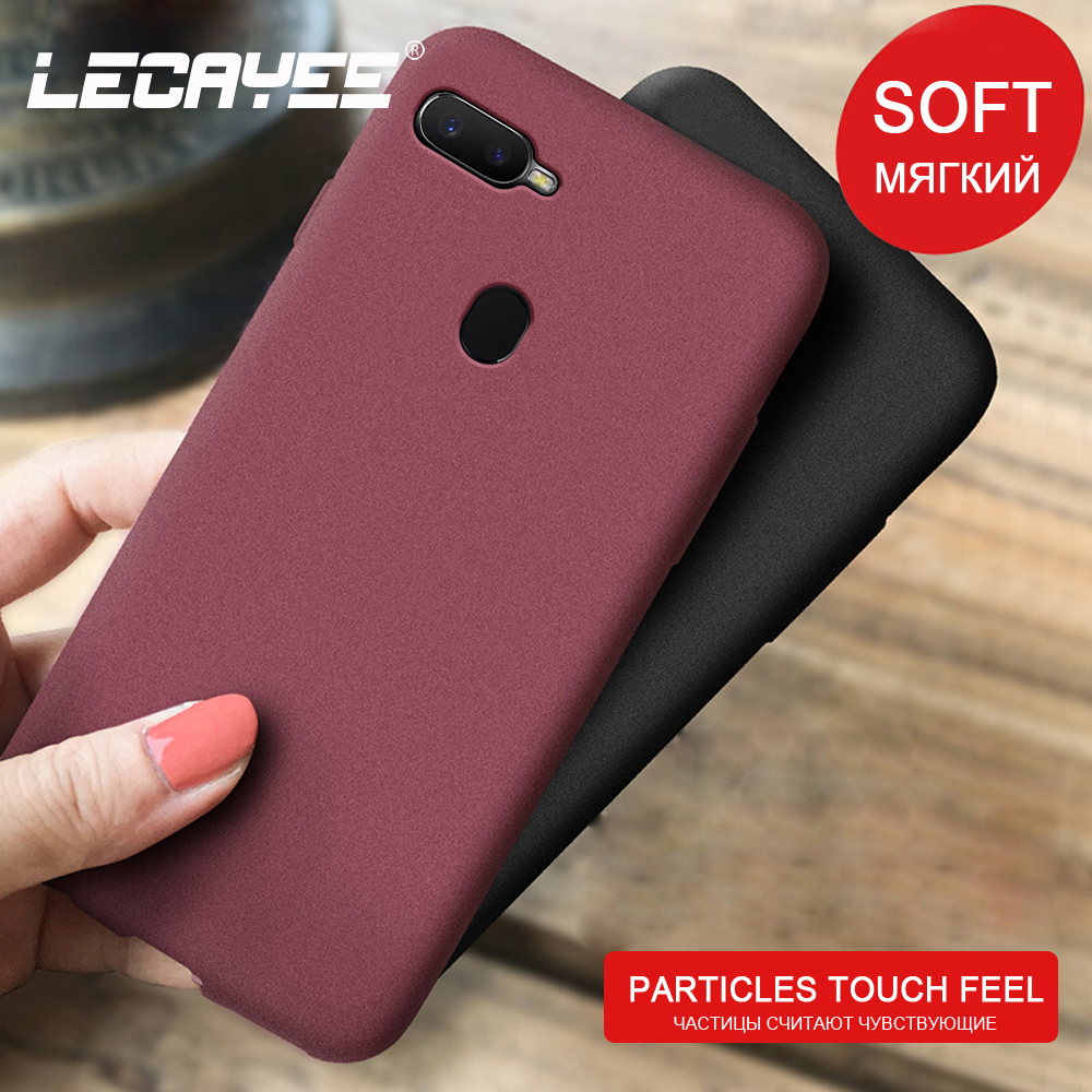 TPU Silicone Granular Matte Soft Case for OPPO AX7 A5s A1k A5 AX17 NEO Pro A3 A3s R15 Pro Fitted Phone Case OPPO Find X image