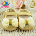 JENNY kids! Newborn baby princess shining first walkers infant children shallow soft soles golden shoes for 0-1 years baby girls