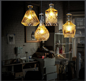 bottles single head droplight of contemporary and contracted fashion personality guest dining room lamps and lanterns