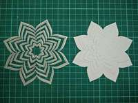 Pointed Flowers Metal Die Cutting Scrapbooking Embossing Dies Cut Stencils Decorative Cards DIY Album Card Paper